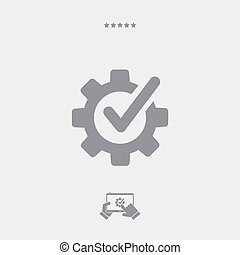 Checking assistance flat icon