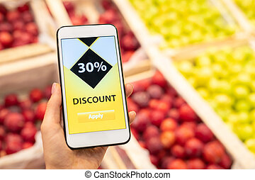 Checking Discount On Smartphone