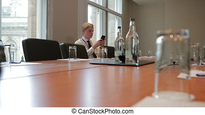 Checking Emails Before the Meeting - Surface level view of a...
