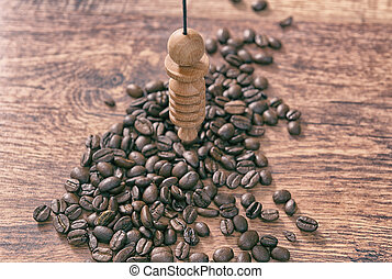 Checking food with pendulum - Using pendulum over coffee...