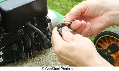 checking spark gap - checking the gap and reinstalling a...