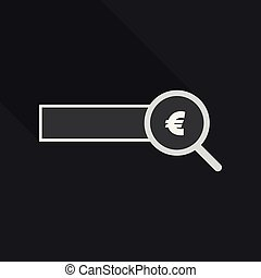 Checking the authenticity of money - vector icon