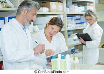 checking the medicine records