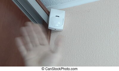 checking the motion sensor after installation