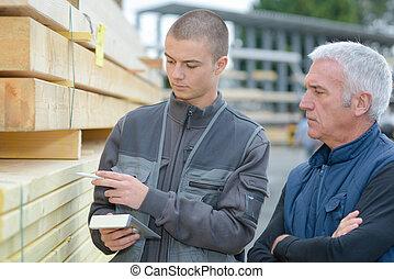 checking the stocks