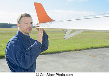 checking the wings