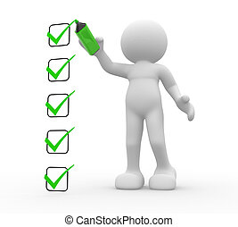Checklist - 3d people - human character, person and a ...