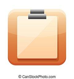 checklist app button menu isolated icon