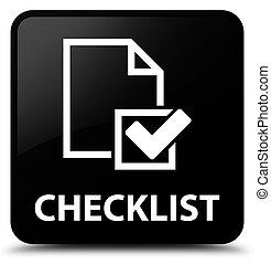 Checklist black square button