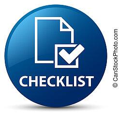 Checklist blue round button