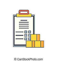 checklist clipboard order with boxes