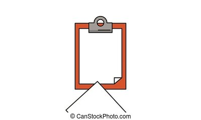 checklist clipboard paper animation floor sign High...