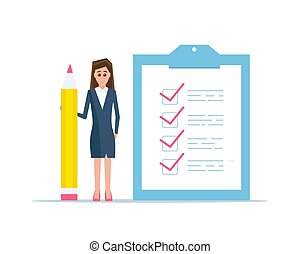 Checklist concept vector illustration.