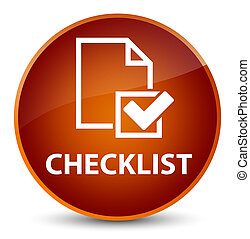 Checklist elegant brown round button
