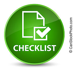 Checklist elegant green round button