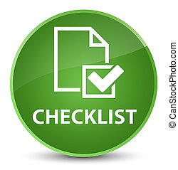Checklist elegant soft green round button