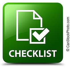 Checklist green square button