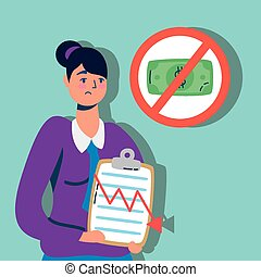 checklist, handlowy znaczą, kobieta, zatrzymywać, halabarda, elegancki