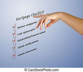 checklist, hipoteka