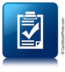 Checklist icon blue square button