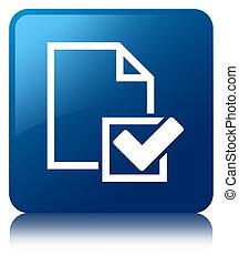Checklist icon blue square button