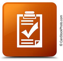 Checklist icon brown square button
