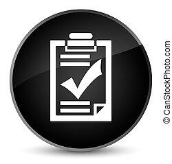 Checklist icon elegant black round button