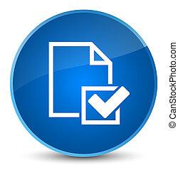 Checklist icon elegant blue round button