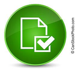 Checklist icon elegant green round button