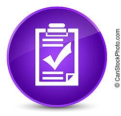 Checklist icon elegant purple round button