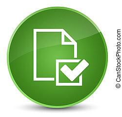 Checklist icon elegant soft green round button