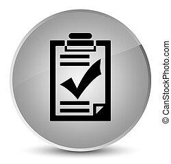 Checklist icon elegant white round button