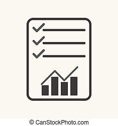 checklist, icon., graph, illustration, lejlighed