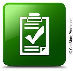 Checklist icon green square button