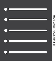 Checklist icon in black on a white background. Vector illustration