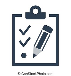 checklist icon on white background.