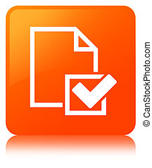 Checklist icon orange square button