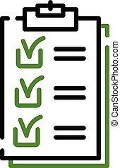 Checklist icon, outline style