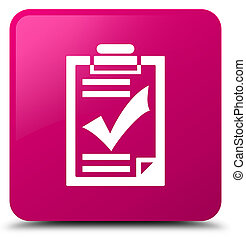 Checklist icon pink square button