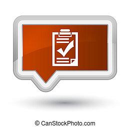 Checklist icon prime brown banner button