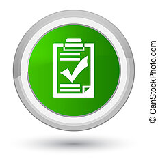 Checklist icon prime green round button