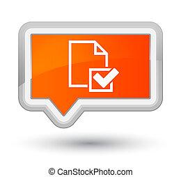 Checklist icon prime orange banner button