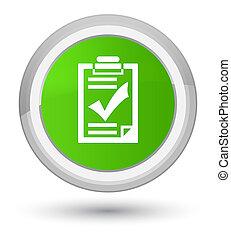 Checklist icon prime soft green round button