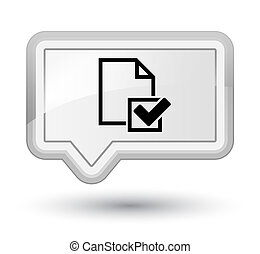 Checklist icon prime white banner button
