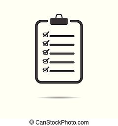 Checklist icon - simple flat design isolated on white background, vector