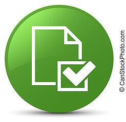 Checklist icon soft green round button