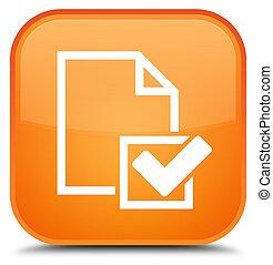 Checklist icon special orange square button