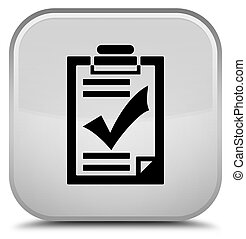 Checklist icon special white square button