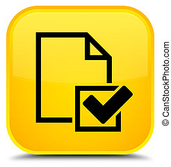 Checklist icon special yellow square button