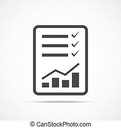 Checklist icon. Vector illustration.